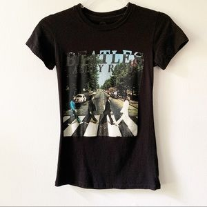 Beatles Abbey Road black Band Tee juniors Size S